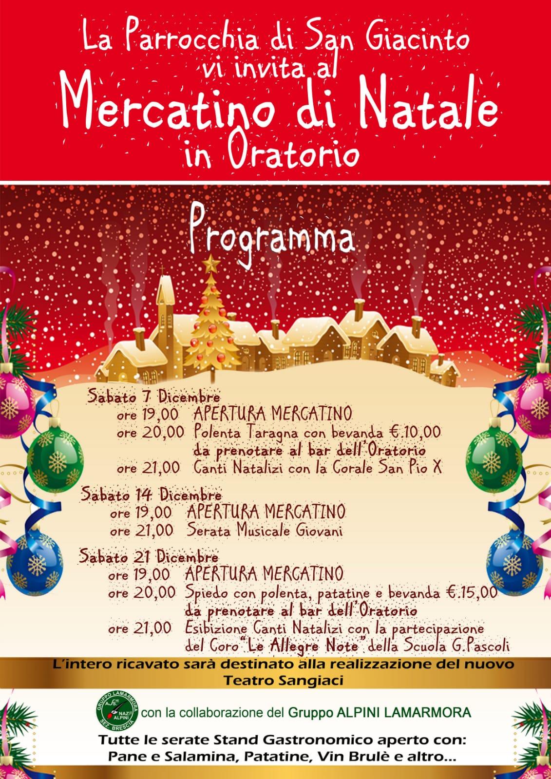 MERCATINO DI NATALE @ Oratorio San Giacinto