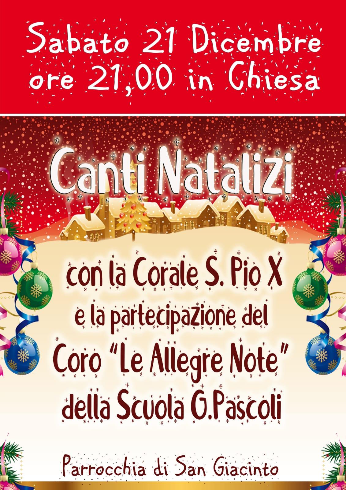 CANTI NATALIZI @ Chiesa di San Giacinto