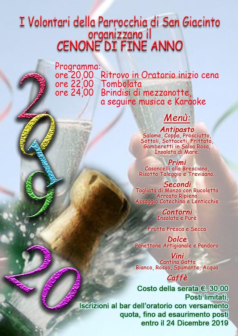 CENONE DI FINE ANNO @ Oratorio San Giacinto