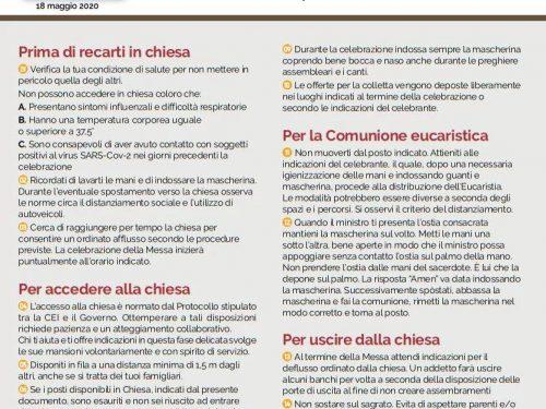 LA MESSA AL TEMPO DEL COVID-19 – PRONTUARIO