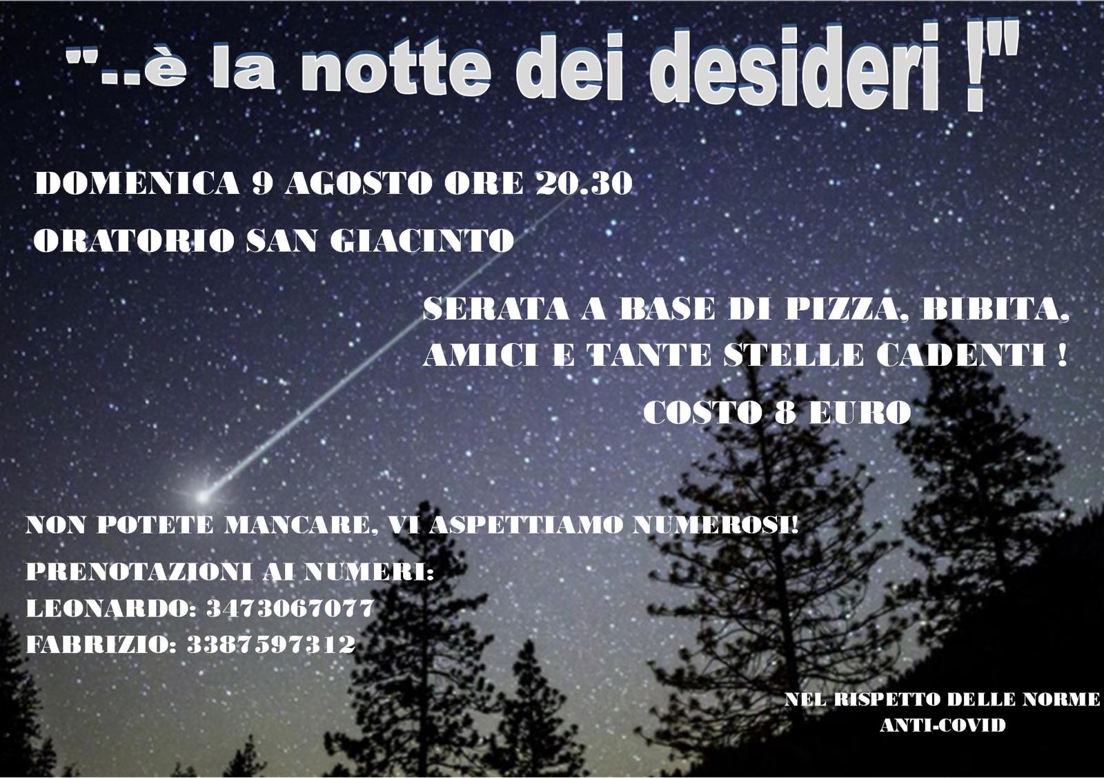 LA NOTTE DEI DESIDERI @ Oratorio di San Giacinto
